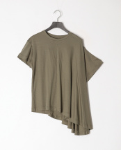 オリーブ●ASYMMETRY TUCK TEE○DC50119