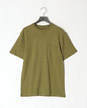 オリーブ●レギュラーフィット 胸ポケットTシャツ○GDW-LCS-201101