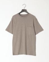 グレー●レギュラーフィット 胸ポケットTシャツ○GDW-LCS-201101
