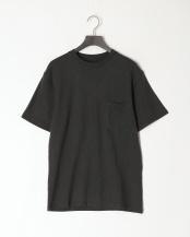 ブラック●レギュラーフィット 胸ポケットTシャツ○GDW-LCS-201101