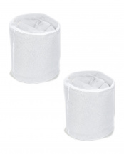 ホワイト●ラグを洗うのに便利 ランドリーネット×2 円柱型 40R×50cm○4993031262584×2