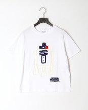 white-R●STAR WARSTシャツ○MA203UTS006