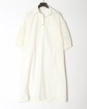 91/無彩色B(オフホワイト)●袖レースシャツワンピース○80200383