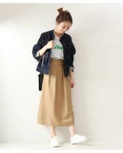 キャメル●タックIラインスカート◆○20060200301010