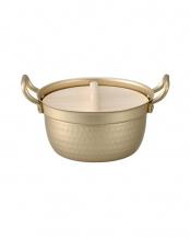 小伝具 段付鍋(木蓋付)15.5○A-1563