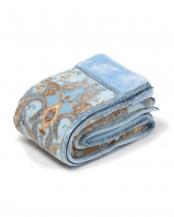 ブルー●西川 洗える2枚合わせ毛布 日本製 洗える シングル○2K2633