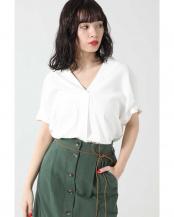 ホワイト●スキッパーシャツ R/B(オリジナル)○6000110024