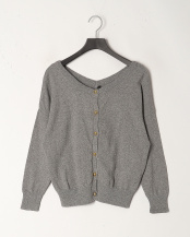 Gray●Cotton Cashmere 2Way Knit○PD123