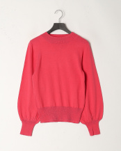 Pink●Cotton Cashmere Balloon Sleeve Knit○PD124