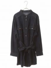 ネイビー 【洗濯機で洗える】ソフトデニムオーバーシャツ HIROKO BIS GRANDE○RLBEJ30250