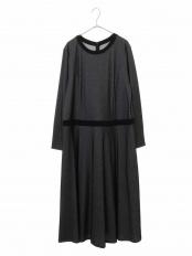 ブラック 【洗える】バーズアイジャカードワンピース HIROKO BIS GRANDE○RLPEJ20380