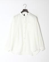 シロ●ポリムジバンドカラーシャツ○314026H