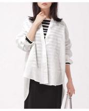 オフホワイト1 EASY REFRESHINGリネンギャザーワイドシャツ ナノ・ユニバースウィメンズ(オリジナル)○6690120016