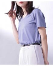 ブルーグレー5●Anti Soaked VネックTシャツ ナノ・ユニバースウィメンズ(オリジナル)○6690124002
