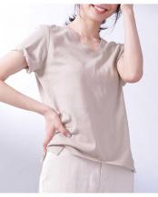 グレージュ3●Anti Soaked VネックTシャツ ナノ・ユニバースウィメンズ(オリジナル)○6690124002