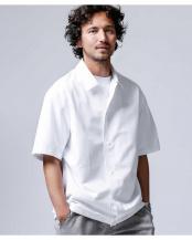 ホワイト 快適男 プランサーレギュラーカラーシャツ(一部WEB限定カラー) ナノ・ユニバースメンズ(オリジナル)○6680121001