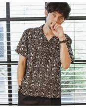 パターン32●リゾートグラフィックオープンカラーシャツ ナノ・ユニバースメンズ(オリジナル)○6680121007