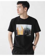 ブラック●[着るアート] CHERYL DUNN フォトTシャツ 1 ナノ・ユニバースメンズ(オリジナル)○6680124032