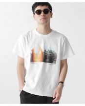 ホワイト●[着るアート] CHERYL DUNN フォトTシャツ 1 ナノ・ユニバースメンズ(オリジナル)○6680124032