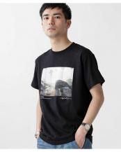 ブラック●[着るアート] CHERYL DUNN フォトTシャツ 3 ナノ・ユニバースメンズ(オリジナル)○6680124034