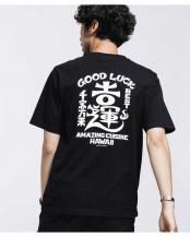 ブラック●カッズ三井田 GOOD LUCK Tシャツ ナノ・ユニバースメンズ(オリジナル)○6680124053
