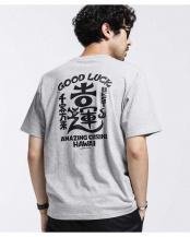 グレー●カッズ三井田 GOOD LUCK Tシャツ ナノ・ユニバースメンズ(オリジナル)○6680124053
