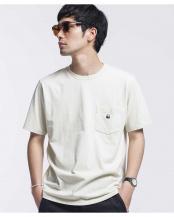 ベージュ●WWF PANDA EMB Tシャツ 半袖 ナノ・ユニバースメンズ(オリジナル)○6680124062