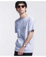 ブルー●WWF PANDA EMB Tシャツ 半袖 ナノ・ユニバースメンズ(オリジナル)○6680124062