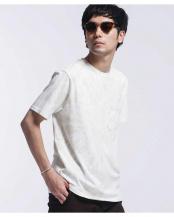 ベージュ●WWF TIE DYE Tシャツ 半袖 ナノ・ユニバースメンズ(オリジナル)○6680124063