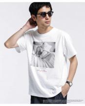 ホワイト●マリリンモンロー メッセージ Tシャツ1 ナノ・ユニバースメンズ(オリジナル)○6680124071