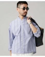 パターン1 大人のワイドシャツ バンドカラー ナノ・ユニバースメンズ(オリジナル)○6689220030