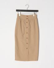 BEIGE●フロント釦ギャザータイトスカート○30BG01p022