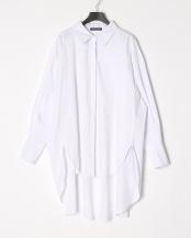 ホワイト●シャツワンピース○IT-6123
