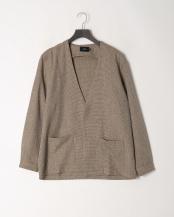 BEIGE●ツムギ―トツイードシャツカーディガン○5156534