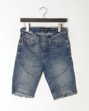インディゴブルー●SLIM MOTO SHORT NO STITCHING○M91AV3R3ML1