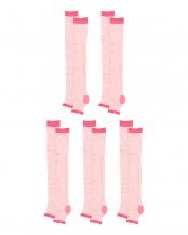 ピンク●ベストバリューマッサージグイ玉サポートソックス5足組○ベストバリューマッサージグイ玉サポートソックス5足組
