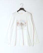 WHITE●angel art ロングスリーブTシャツ○1120612465-0