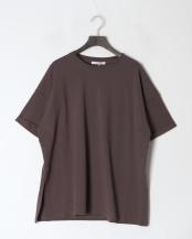 チャコールグレー●アシメスリットビックTシャツ○20996