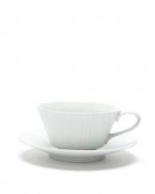 白磁草林彫 スープカップ取皿○4965089873098