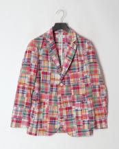 ピンク●パッチワークシャツジャケット<マドラスチェック>○BC30063