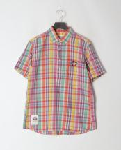 ピンク●プルオーバーBDシャツ<マドラスチェック>○EH99059