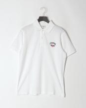 ホワイト●ピグメント加工ポロシャツ<鹿の子>○PH60203