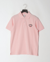 ピンク●ピグメント加工ポロシャツ<鹿の子>○PH60203
