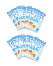 ホワイト●不織布3層マスク子ども用5枚入り×10袋50枚組○不織布3層マスク子ども用5枚入り×10袋50枚組