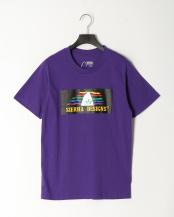 Purple●SD 90S RAINBOW LOGO TEE○1504