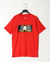 Red●SD 90S RAINBOW LOGO TEE○1504