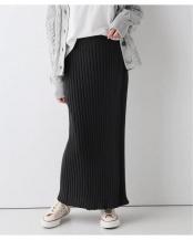 グレー●ラップ風リブニットスカート○20060912303010