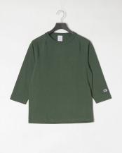 モスグリーン●ラグランスリーブ Tシャツ○C5-P404