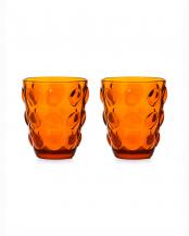 オレンジ●ガラスタンブラー ボッレ 2個セット○10717443