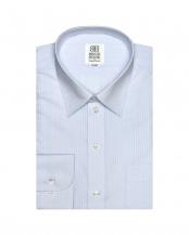 ライトブルー●形態安定ノーアイロン レギュラー 長袖ビジネスワイシャツ○BM010100AC11R1A